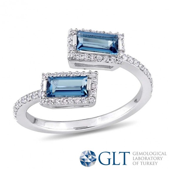 BAGET LONDON BLUE TOPAZ PIRLANTA YÜZÜK MY2603