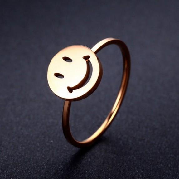TINY MINY GÜLEN YÜZ SMILEY ALTIN YÜZÜK TM125
